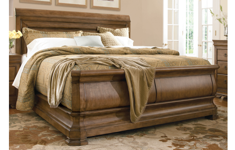 New Lou Louie P's Queen Sleigh Bed by Universal