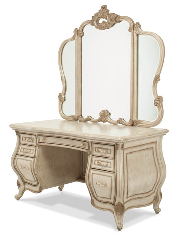 Platine de Royale Vanity & Mirror - Champagne Finish by Aico