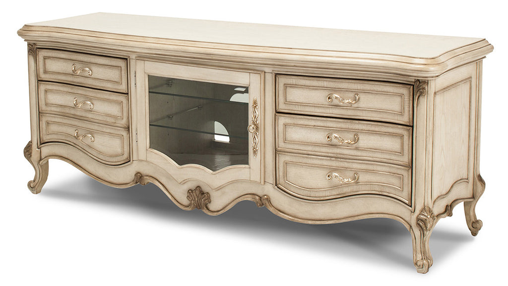 Platine de Royale Entertainment Console - Champagne Finish by Aico