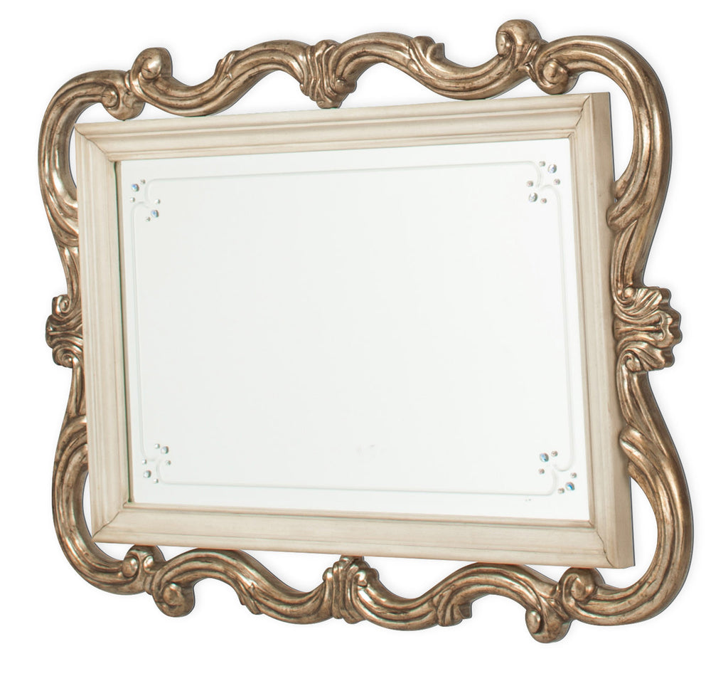 Platine de Royale Wall Mirror - Champagne Finish by Aico