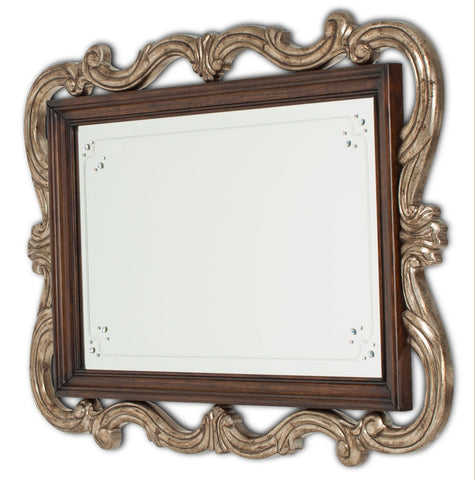 Platine de Royale Wall Mirror - Light Espresso by Aico