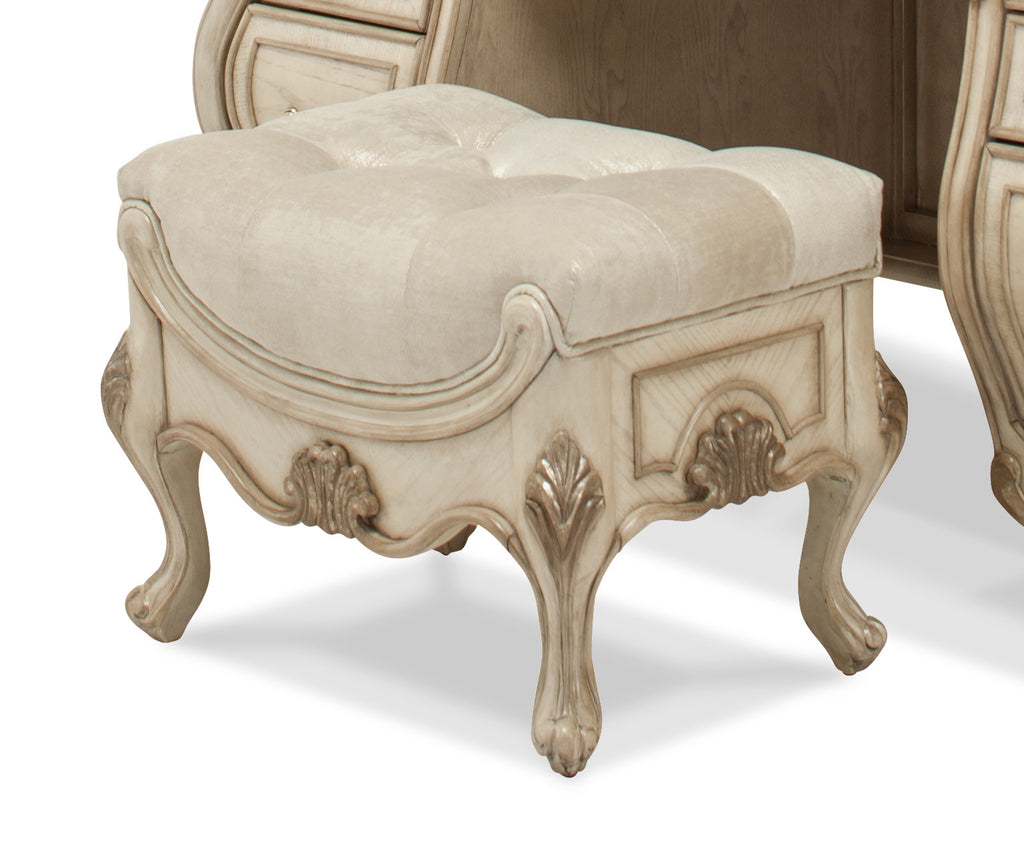 Platine de Royale Vanity Bench - Champagne Finish by Aico