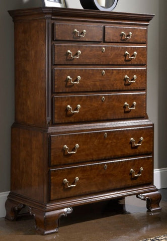 American Cherry Hampton Chest on Chest by Fine Furniture Design