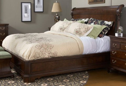 American Cherry King Charleston Platform Panel Bed by Fine Furniture Design