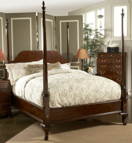 American Cherry King Bridgeport Pencil Post Bed by Fine Furniture Design