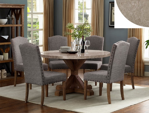 Vesper Marble Top Dining Set