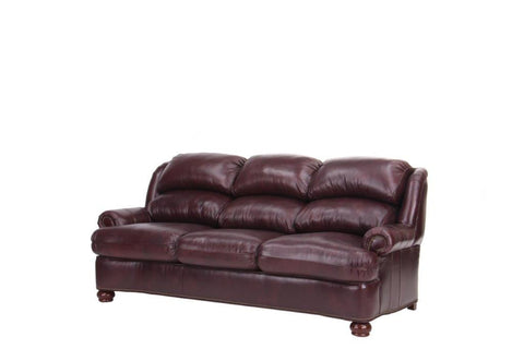 Leather Values #1224 Chestnut Sofa