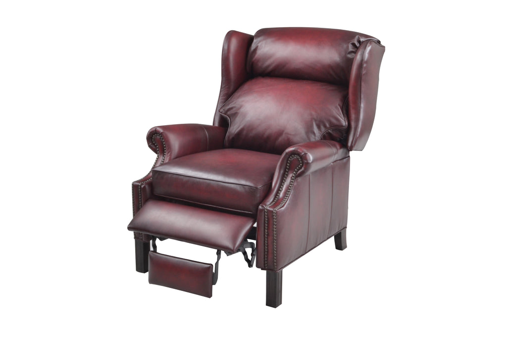 Thomas Recliner - Oxblood Leather by Leather Values