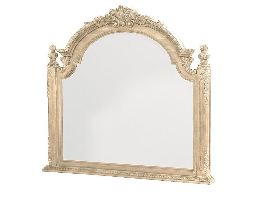 Jessica McClintock Mirror in White Veil Finish by American Drew
