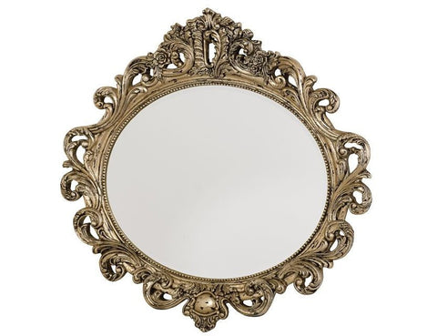 Jessica McClintock Oval Decorative Mirror in Silver Veil Finish by American Drew