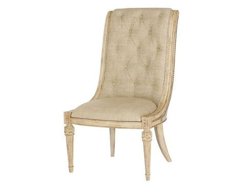Jessica McClintock Upholstered Side Chair (Set of 2) in White Veil Finish by American Drew