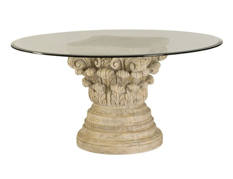 Jessica McClintock Oval Dining Table in White Veil Finish by American Drew