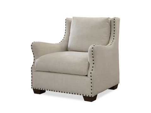 Connor Chair in Belgian Linen by Universal