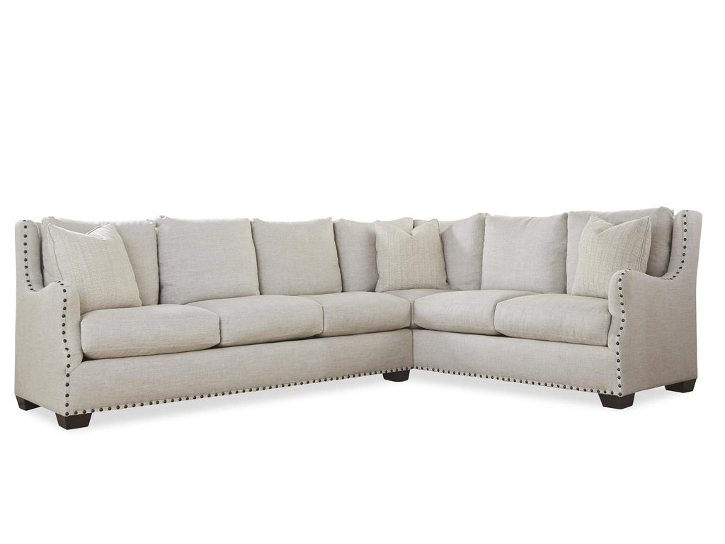 Connor Sectional in Belgian Linen by Universal