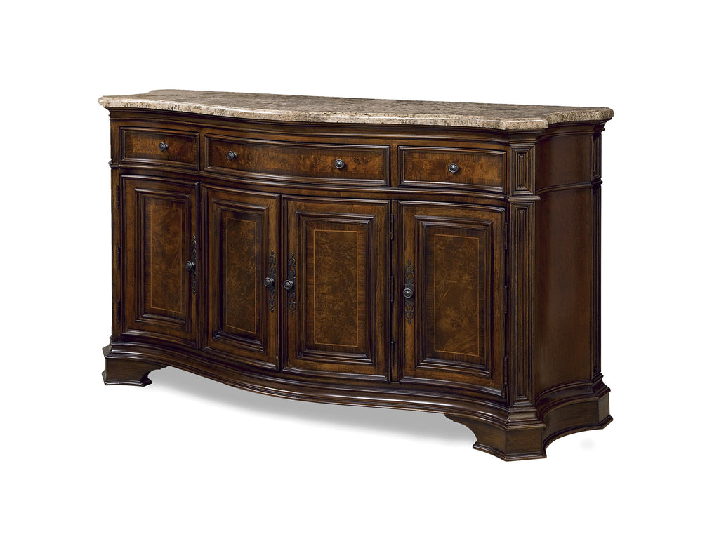 Villa Cortina Marble Top Storage Credenza Table by Universal