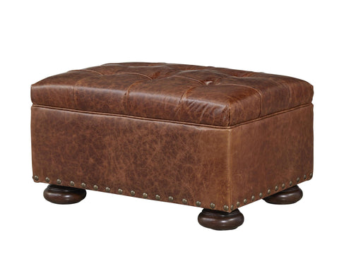 Maxwell Leather Ottoman by Universal
