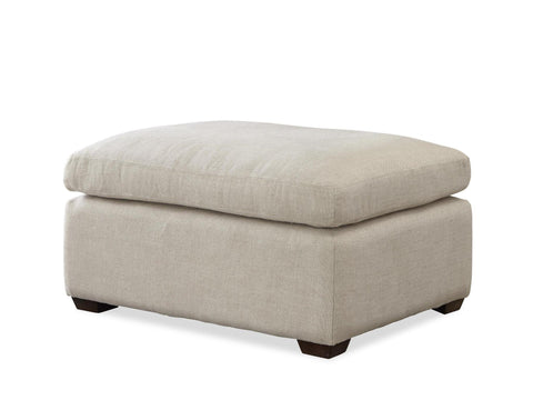 Haven Ottoman in Belgian Linen by Universal