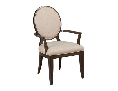 Grantham Hall Upholstered Arm Chair w/ Decorative back (Set of 2) by American Drew
