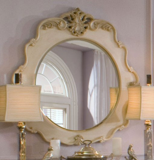 Lavelle Console Table Mirror - Blanc Finish by Aico
