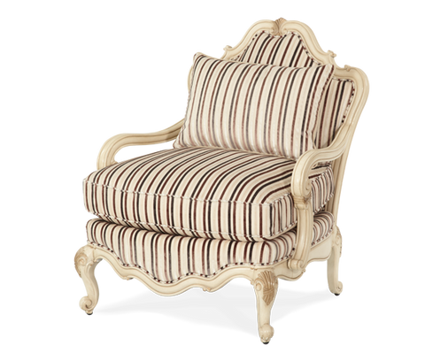 Lavelle Bergere Wood Chair - Blanc Finish by Aico