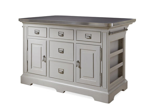Paula Deen Dogwood Kitchen Island  - Cobblestone Finish