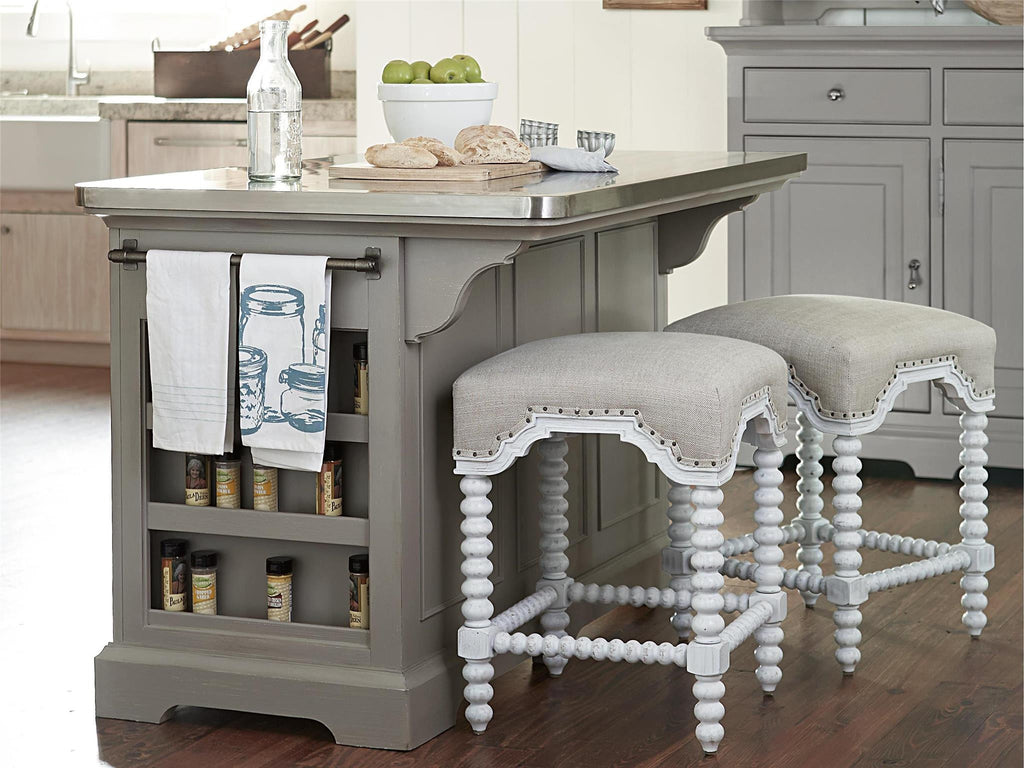 Paula Deen Dogwood Kitchen Island Cobblestone Finish