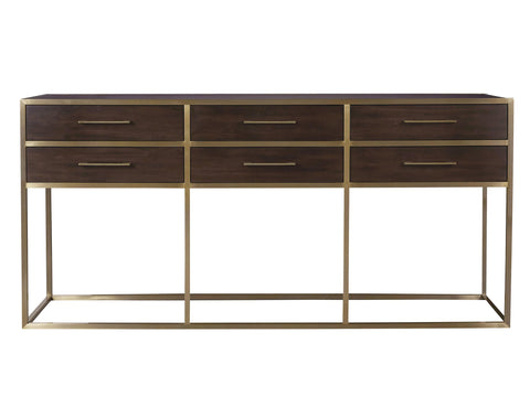 Modern Mahogany Gibson Console by Universal Furniture