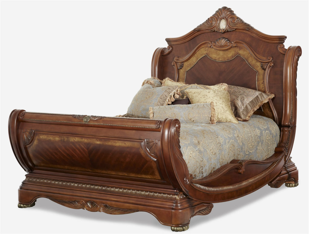 Cortina Cal King Sleigh Bed by Aico
