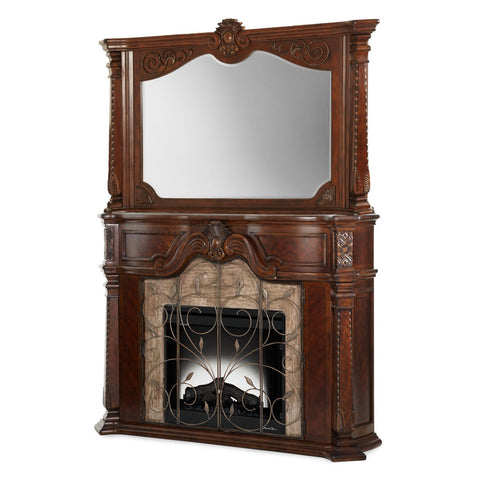WINDSOR COURT Fireplace With Mirror & Electric Insert 3pc