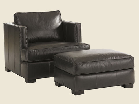 Fillmore Leather Ottoman by Lexington