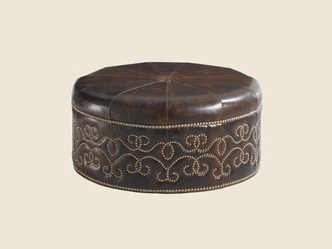 Giardini Leather Ottoman by Lexington