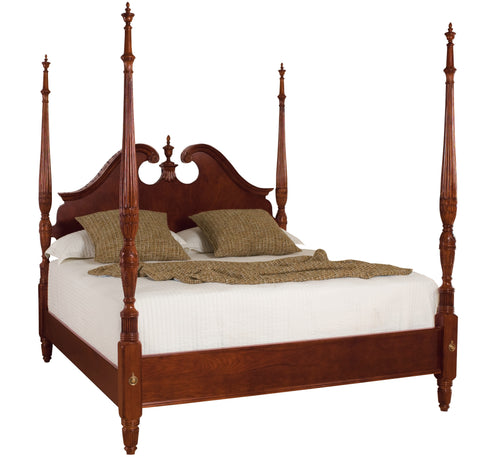 Cherry Grove Cal-King Pediment Poster Bed by American Drew