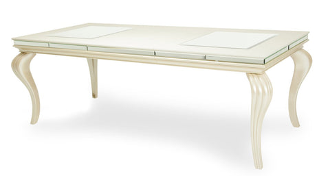Hollywood Loft Leg Dining Table - Pearl Finish