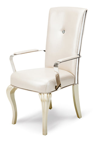 Hollywood Loft Arm Chair (Set of 2) - Pearl Finish