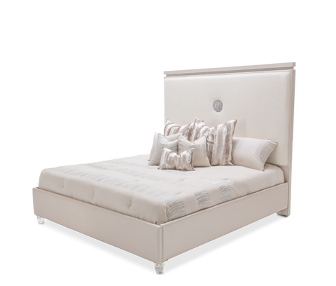 Glimmering Heights King Upholstered Bed by Aico