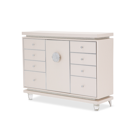 Glimmering Heights Upholstered Dresser by Aico