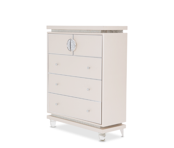 Glimmering Heights Upholstered 5 Drawer Chest by Aico