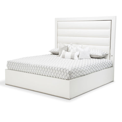 STATE ST. Upholstered Panel Bed (3 Pc)
