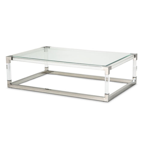 STATE ST. Rectangular Cocktail Table (2 Pc) - Acrylic Legs