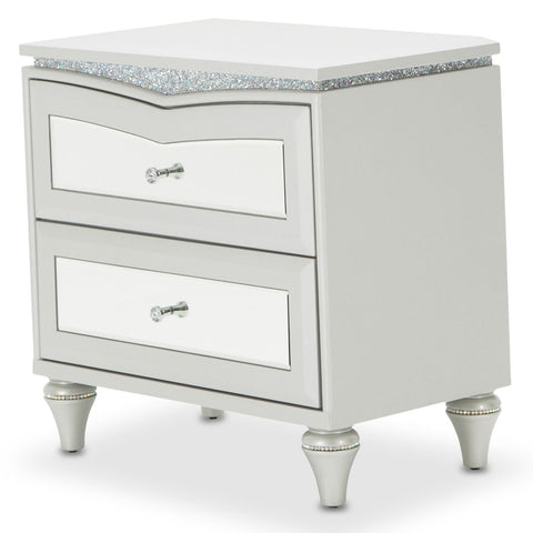 MELROSE PLAZA Upholstered Nightstand