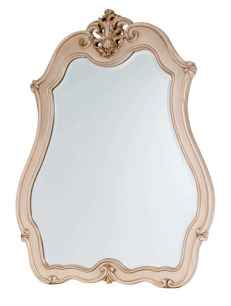 Lavelle Cottage Buffet Mirror - Blanc Finish by Aico