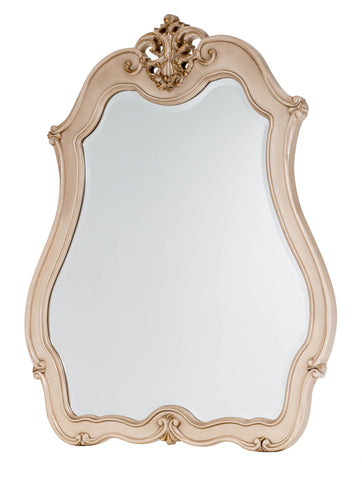 Lavelle Cottage Dresser Mirror - Blanc Finish by Aico