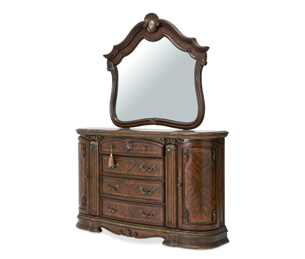 Bella Veneto Dresser & Mirror by Aico