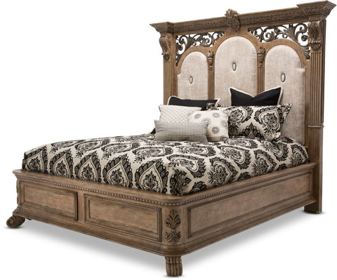 Aico Villa de Como King Bed in Heritage Finish by Michael Amini