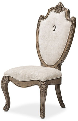Aico Villa de Como Side Chair (Set of 2) in Heritage Finish by Michael Amini