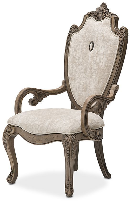 Aico Villa de Como Arm Chair (Set of 2) in Heritage Finish by Michael Amini