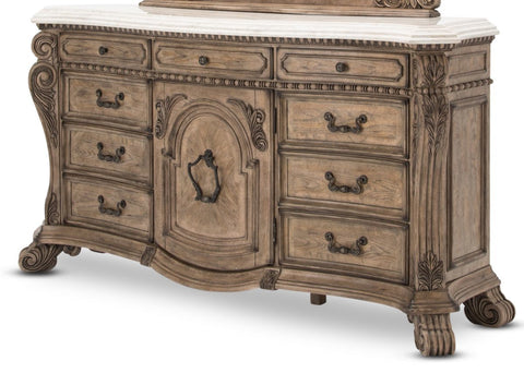 Aico Villa de Como Dresser in Heritage Finish by Michael Amini