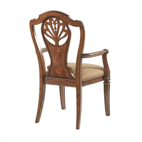 Antebellum Splat Back Arm Chair (Set of 2) by Fine Furniture Design
