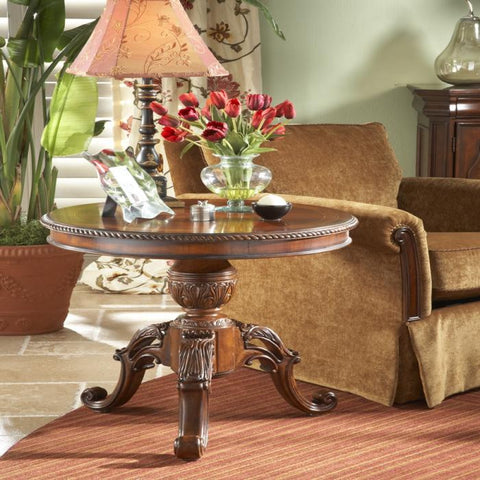 Antebellum Round End Table by Fine Furniture Design