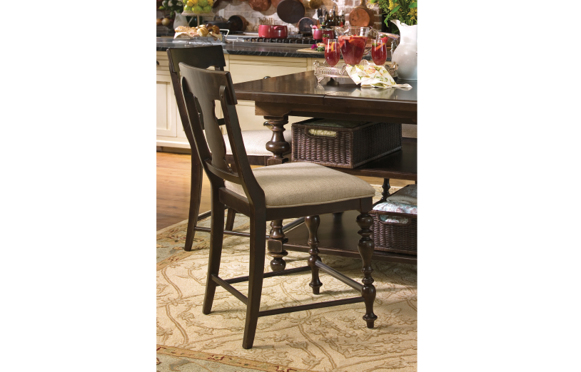 Paula Deen Counter Height Chair (Set of 2)- Tobacco Finish